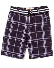 Arcade Styles - BELTED PLAID SHORTS (8-20)