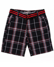 Shorts - BELTED PLAID SHORTS (8-20)