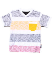 Boys - REVERSE PRINT STRIPE POCKET TEE (4-7)