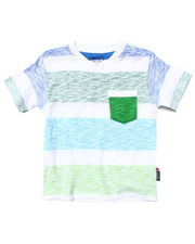 Sizes 4-7x - Kids - REVERSE PRINT STRIPE POCKET TEE (4-7)
