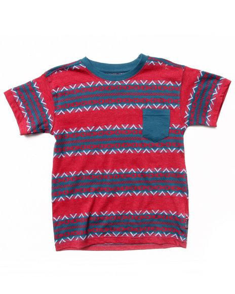 Arcade Styles - Boys Red Aztec Stripe Tee (8-20) - $6.99