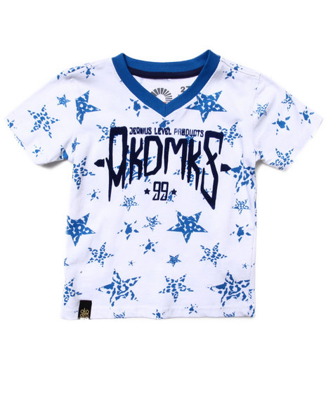Akademiks - Boys Blue All Over Star Print Tee (2T-4T) - $13.99