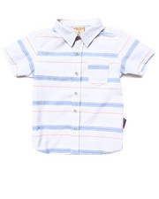 Button-downs - S/S STRIPED SHIRT (4-7)