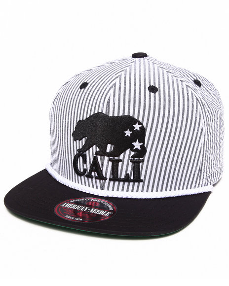 American Needle Men California Hampton Grosgrain Strapback Hat Multi