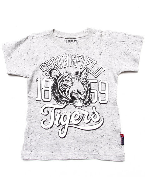 Arcade Styles - Boys Light Grey Vintage Graphic Tee (4-7)