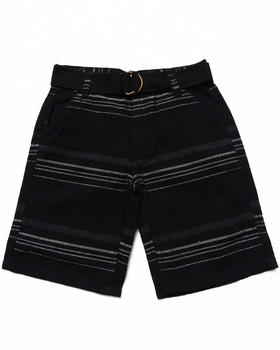 Arcade Styles - STRIPED BELTED SHORTS (8-20)