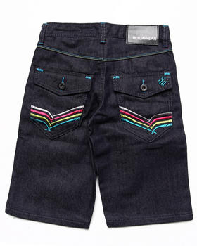Rocawear - EMBROIDERED FLAP POCKET DENIM SHORTS (8-20)
