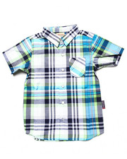 Arcade Styles - S/S PLAID SHIRT (4-7)
