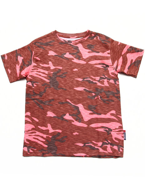 Arcade Styles Camo,Red T-Shirts