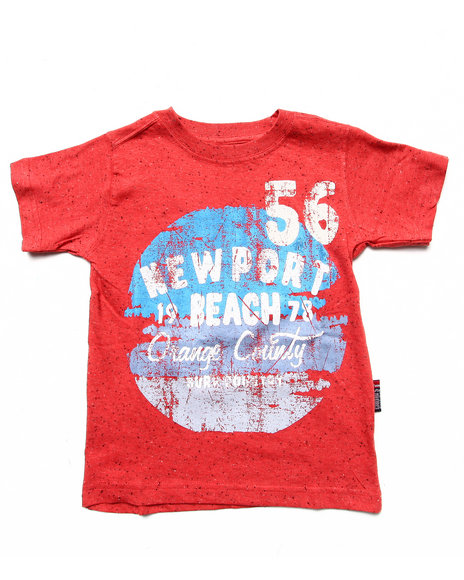Arcade Styles - Boys Red Vintage Graphic Tee (4-7)