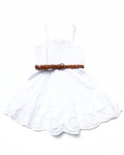 La Galleria - SMOCKED DRESS W/ BELT (4-6X)