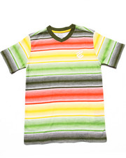Tops - STRIPED V-NECK TEE (8-20)