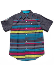 Rocawear - S/S STRIPED CHAMBRAY WOVEN (8-20)