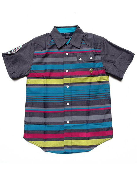 Rocawear Boys Multi S/S Striped Chambray Woven (8-20)
