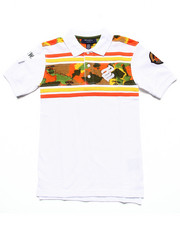 Tops - PRINTED YOKE POLO (8-20)