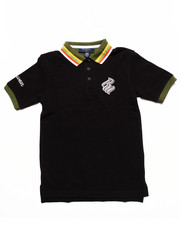 Tops - STRIPED COLLAR POLO (8-20)