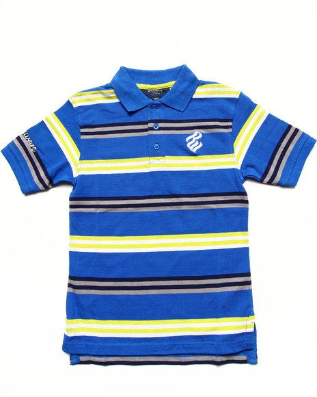 Rocawear Boys Blue Striped Polo (8-20)