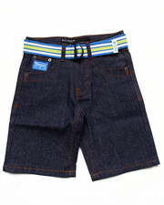 Bottoms - BELTED ROC DENIM SHORTS (8-20)