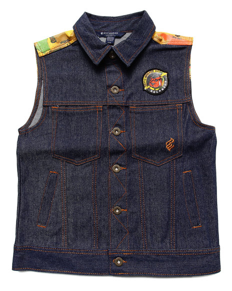 Rocawear - Boys Dark Wash Denim Vest (8-20)