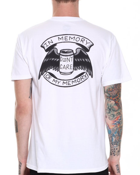 Don't Care - Men White In Memory Tee
