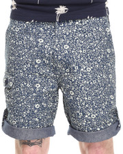 Men - Convert. Floral Short w/ Roll Detail