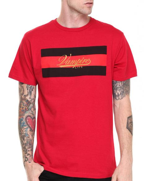 Vampire Life Red Vampire Script Flag T-Shirt