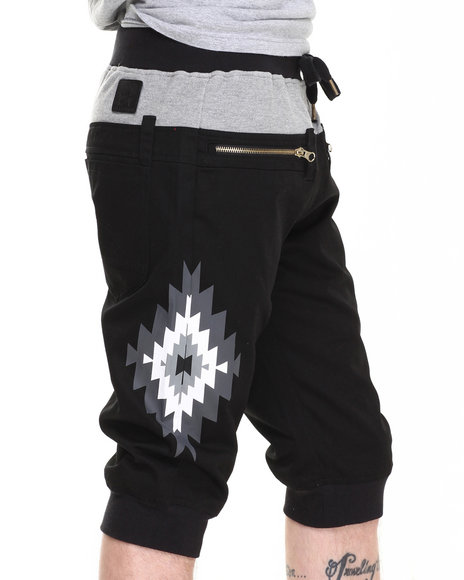 Allston Outfitter Black Double Layered Jogger Short