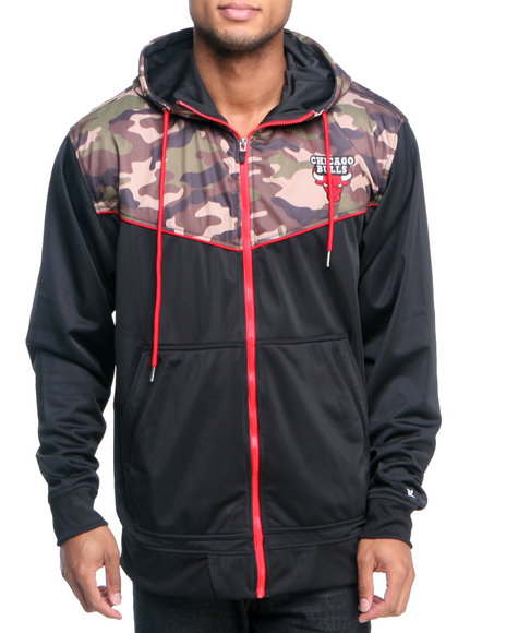 Nba, Mlb, Nfl Gear - Men  Chicago Bulls Team Commando Hoodie