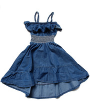 La Galleria - HI LOW DENIM DRESS (4-6X)