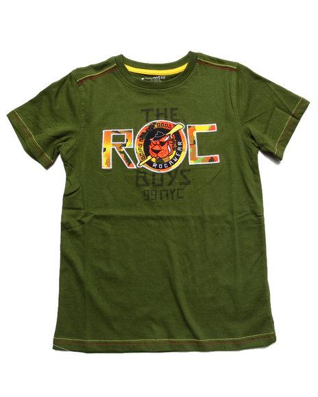 Rocawear Boys Olive Roc Camo Tee (8-20)