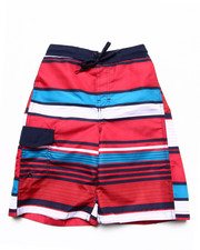Arcade Styles - MULTI STRIPE SWIM SHORTS (8-20)