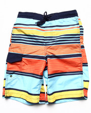 Boys - MULTI STRIPE SWIM SHORTS (8-20)