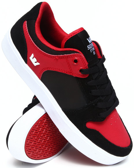 Supra - Men Black,Red Vaider Lc Red Nubuck Sneakers