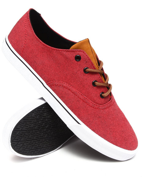 Supra - Men Red Wrap Raw Red Textile Sneakers