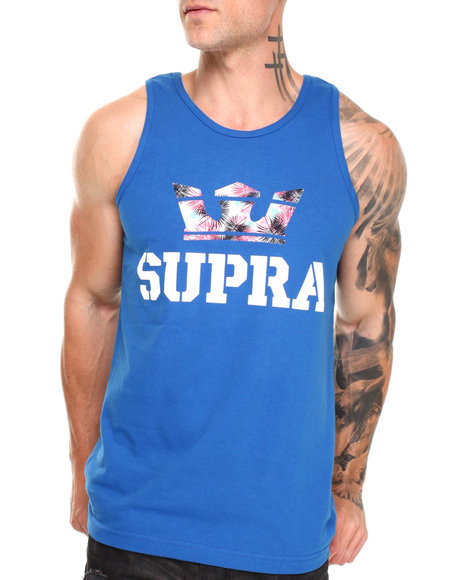 Supra - Men Blue Above Tank