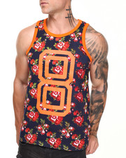 Men - Rose Garden All over Print Tank Top