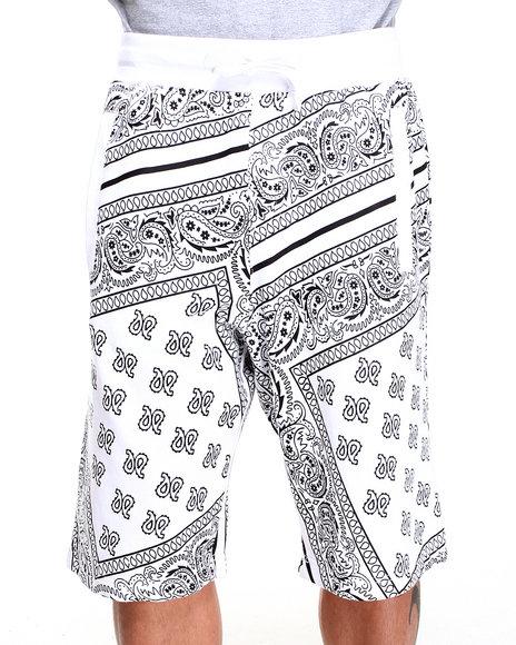 Buyers Picks - Men White Bandana Sweat Shorts
