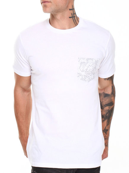 Supra - Men Grey,White Premium Pocket Tee