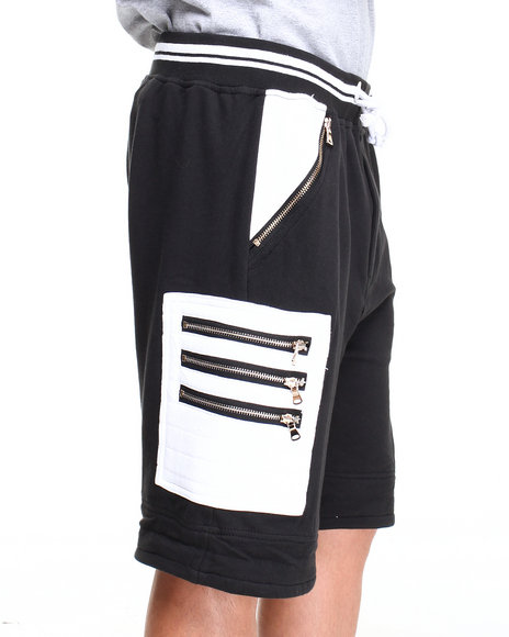 Winchester - Men Black Vintage Drop Crotch Drawstring Shorts