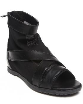 Fashion Lab - Angela Criss Cross Strap & Mesh Peep Toe Sandal