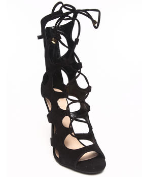 Fashion Lab - Pamela Peep Toe Lace Up Cutout Ankle Pump