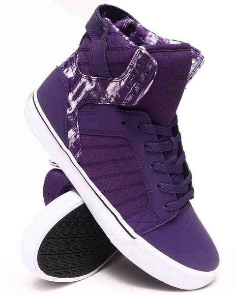 Supra - Men Multi,Purple Skytop Sneakers
