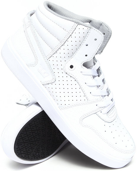 Men White High Top Sneaker