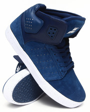 The Skate Shop - Atom Navy Suede/Leather Sneakers
