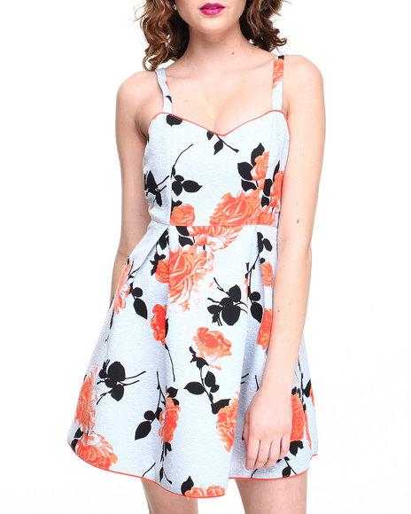 Light Blue Print Dress