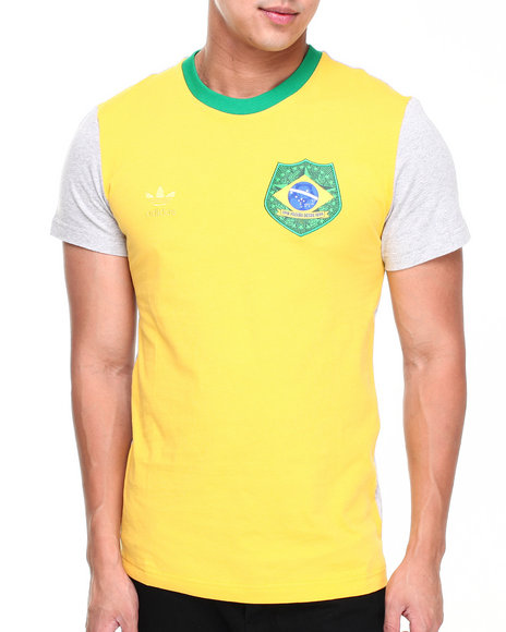 Adidas Yellow Brazil Football Tee