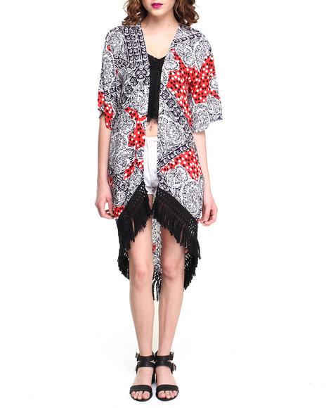 Minkpink Spot Surprise Kimono White X-Small