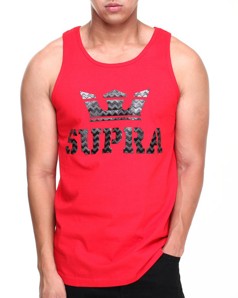 Supra - Men Red Above Tank