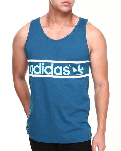 Adidas - Men Blue Heritage Logo Tank - $13.99