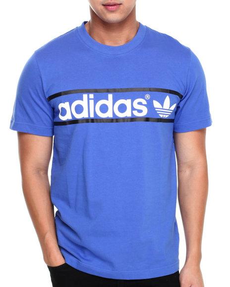 Adidas - Men Blue Heritage Logo Tee - $22.99